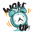 clock, network, social, time, wake up icon
