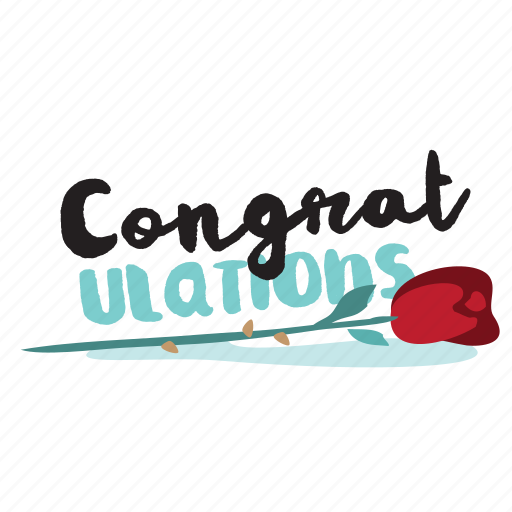 Congratulations, event, flower, network, rose, social icon - Download on Iconfinder