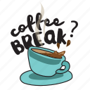 break, coffee, drink, network, pause, social, work icon