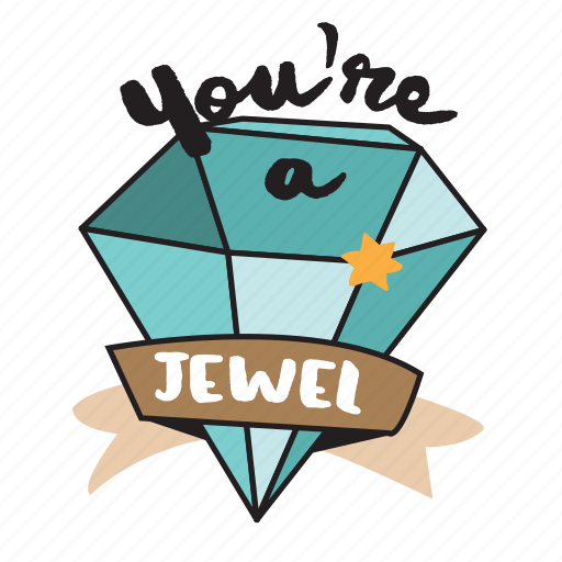 Diamond, jewel, jewelry, network, social icon - Download on Iconfinder