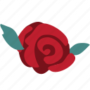 flower, network, rose, social icon