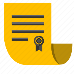 bill, document, paper, rules icon