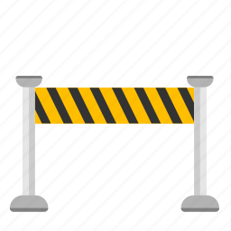 construction, fencing, signal, tape icon
