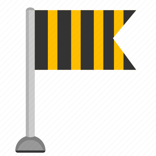 attention, flag, sign, signal, striped icon