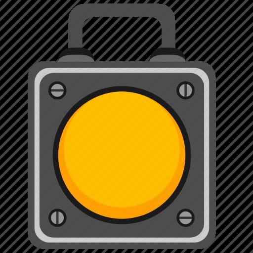 builder, lantern, portable, road icon