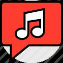 everyday, music, notification, online, options, random icon
