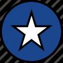 everyday, favorite, online, options, random, star icon