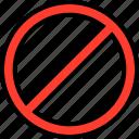 close, everyday, online, options, random, stop icon