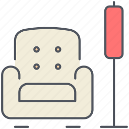armchair, design, furniture, interior, living room, relax, seat icon