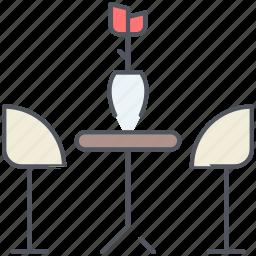breakfast, decoration, design, dining room, furniture, interior, table icon