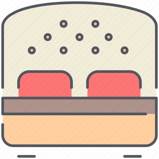 bed, bedroom, design, double bed, furniture, interior, sleep icon