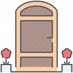 design, door, entrance, furniture, house, interior, welcome icon