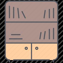 design, furniture, interior, library, reading, room, study icon