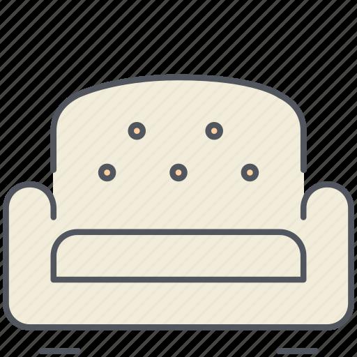 design, furniture, interior, living room, relax, seat, sofa icon