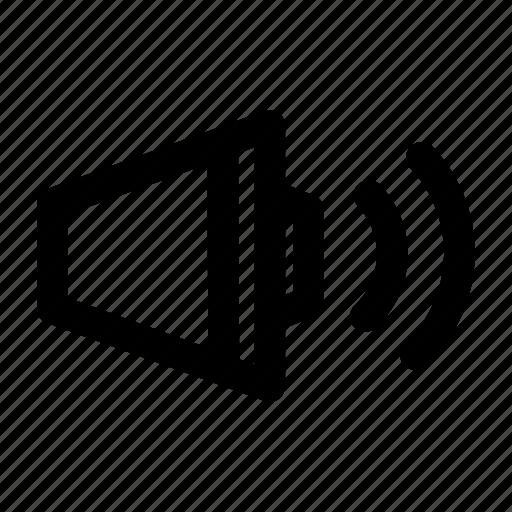 audio, hear, loud, music, sound, speaker, volume icon