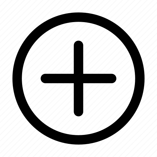 add, add to, circle, enlarge, open, plus, plus sign icon