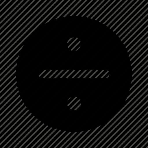 common, divide, divide sign, divided, division, math, split icon