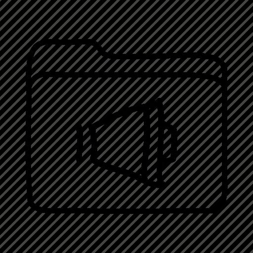 audio files, audio folder, download, file, files, folder, folders icon