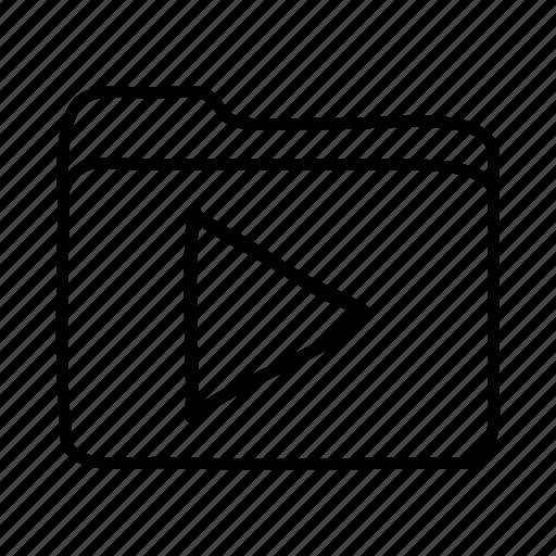 download, file, files, folder, folders, media files, play folder icon