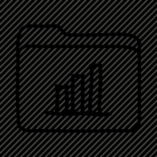analytics, bar graph, bar graph folder, file, files, folder, folders icon