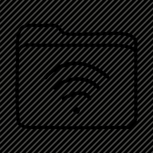 file, files, folder, folders, wireless, wireless connection, wireless folder icon