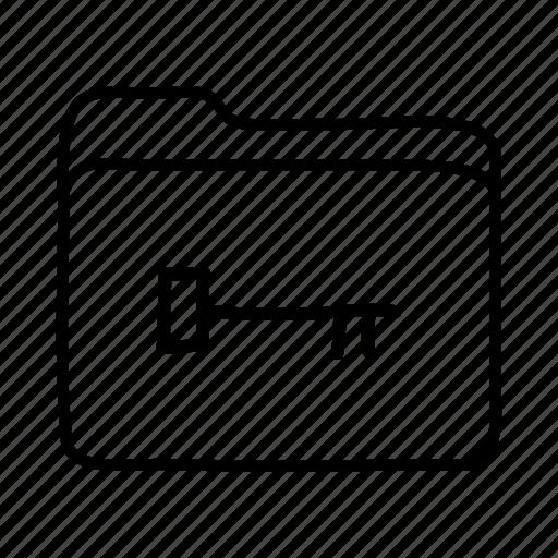 access folder, file, files, folder, folders, key folder, open folder icon