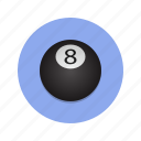and, cueball, pool, snooker, spots, stripes icon