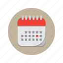 appointment, calendar, day, memo, month, time, year icon