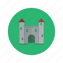 building, castle, heritage, historical, history icon