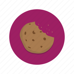 biscuit, chip, choc, chocolate, cookie, snack icon