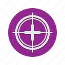 aim, crosshair, crosshairs, gun, sight, target icon