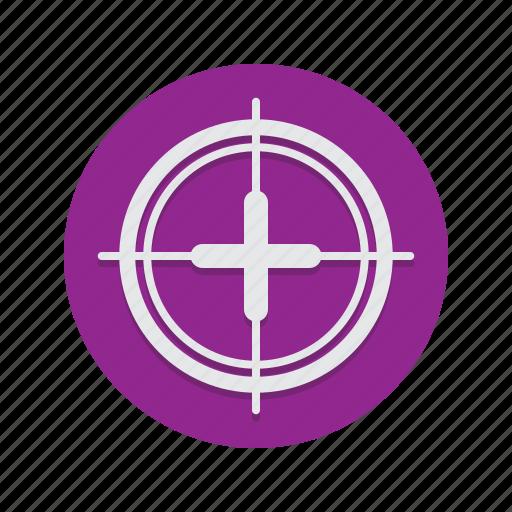 aim, crosshair, crosshairs, gun, sight, target icon