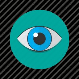 eyeball, eyes, see, vision, visual icon