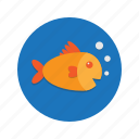 animal, fish, fishy, goldfish, ocean, sea, underwater icon