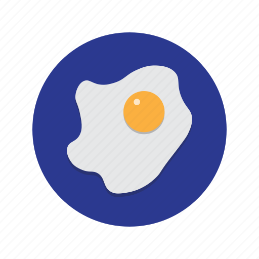 breakfast, chicken, egg, fried, fry, up icon