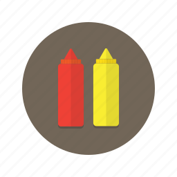 condiments, fastfood, ketchup, mustard, sauce icon