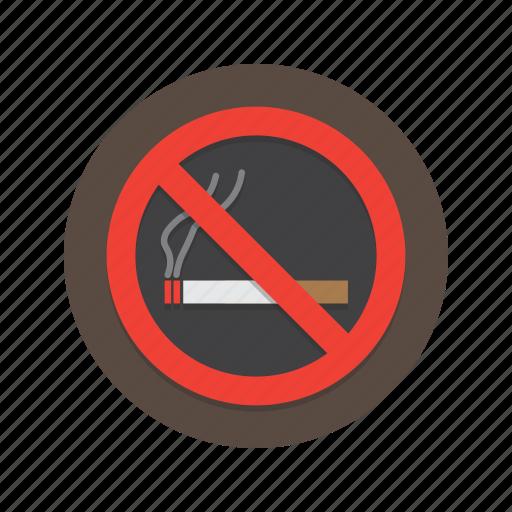 no, sign, smoking icon