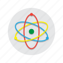 atom, education, electron, neutron, physics, proton, science icon