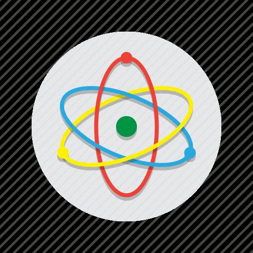 atom, education, electron, neutron, physics, proton, science icon