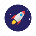 astronomy, missile, rocket, rocketship, space, spaceship icon