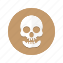 cranium, dead, death, head, skeleton, skull icon