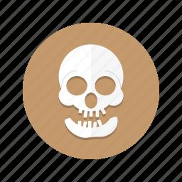 cranium, dead, death, head, skeleton, skull icon