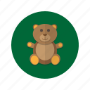bear, cuddly, plush, stuffed, teddy, toy icon