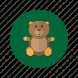 bear, cuddly, plush, stuffed, teddy, toy icon