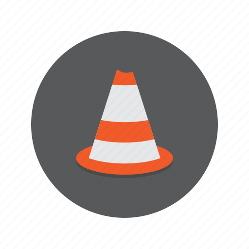 cone, road, roads, traffic icon