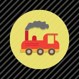 engine, steam, train icon