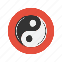 evil, good, white, yang, yin icon