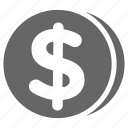 bitcoin, coin, dollar, money icon
