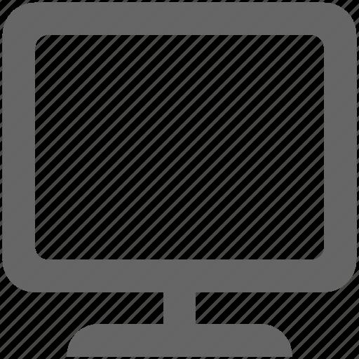 computer, monitor, pc, screen, television, tv icon