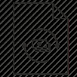bank, exchange, list, money, report icon